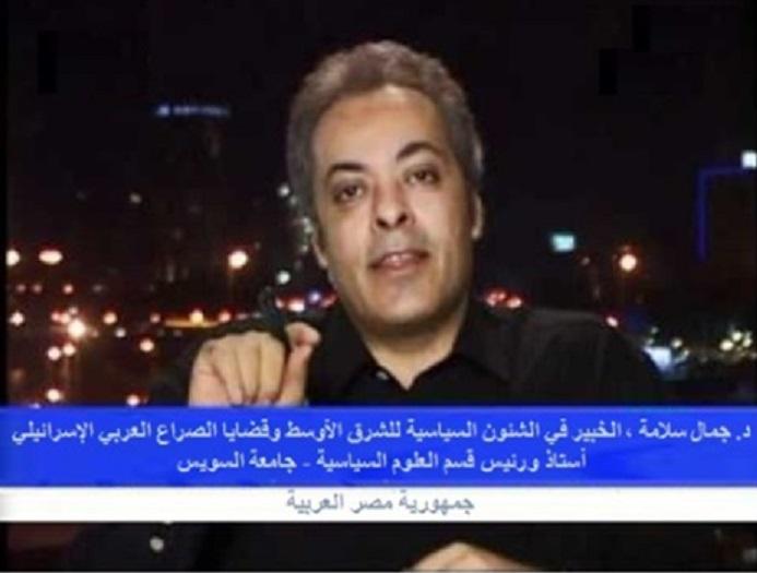 . جمال سلامة علي استاذ ورئيس قسم العلوم السياسية بجامعة السويس